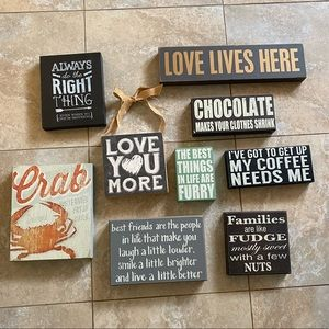 Wall decor wooden sign
